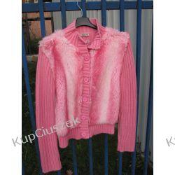 różowy sweterek z futerkiem