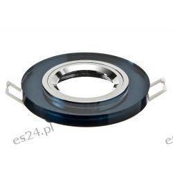 Oprawa szklana punktowa stała   okrągła  -grafit