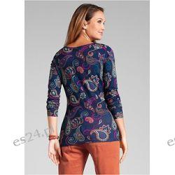 Shirt z dekoltem henley długi rękaw