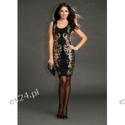 Sukienka z połyskującym nadrukiem