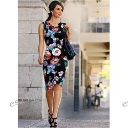 Elegancka sukienka z dekoltem woda