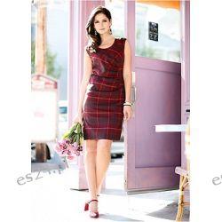 Sukienka z krótkim rękawem i okrągłym dakoltem