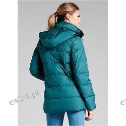 Przejściowa kurtka puchowa Atrakcyjna, miękka kurtka przejściowa ocieplana lekkim puchem. Odpinany kaptur.