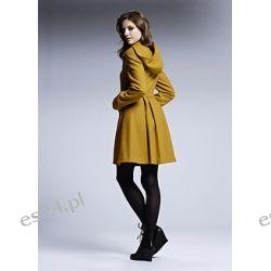 Płaszcz Pełen dziewczęcego wdzięku płaszcz w pięknym kolorze curry