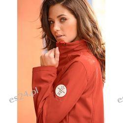 Kurtka softshell Sportowa kurtka typu softshell, z pionowymi cięciami, stójką z regulacją obwodu