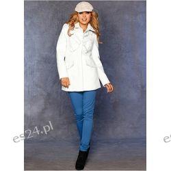 Krótki płaszcz Elegancki płaszcz z kolekcji RAINBOW. Materiał o wyglądzie wełny.