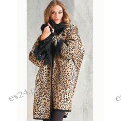 Kurtka leo Z polaru drukowanego w cętki leoparda. Luźny fason.