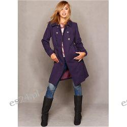 Płaszcz Modny płaszcz dwurzędowy z miękkiego materiału z eleganckimi guzikami