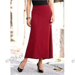 Długa spódnica Elegancka spódnica z wszytymi marszczeniami i specjalną wstawką z tyłu.