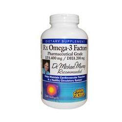 Natural Factors, RxOmega-3 Factors, EPA 400 mg/DHA 200 mg, 240 Softgels - iHerb.com