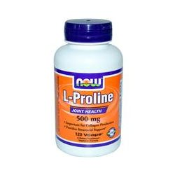 Now Foods, L-Proline, 500 mg, 120 Vcaps - iHerb.com