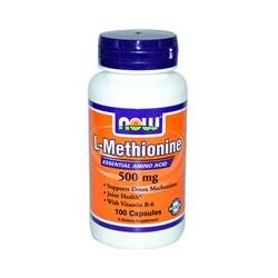 Now Foods, L-Methionine, 500 mg, 100 Capsules - iHerb.com