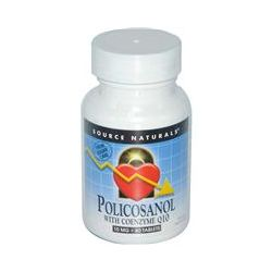 Source Naturals, Policosanol with Coenzyme Q10, 10 mg, 60 Tablets - iHerb.com