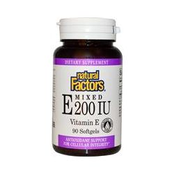 Natural Factors, Mixed E 200 IU, Vitamin E, 90 Softgels - iHerb.com
