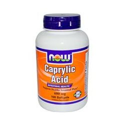Now Foods, Caprylic Acid, 100 Softgels - iHerb.com