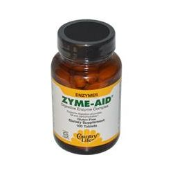 Country Life, Gluten Free, Zyme-Aid, Digestive Enzyme Complex, 100 Tablets - iHerb.com