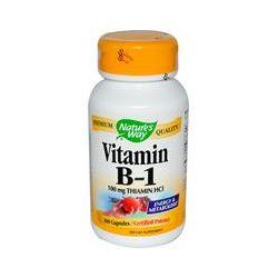 Nature's Way, Vitamin B-1, 100 mg Thiamin HCl, 100 Capsules - iHerb.com