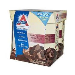 Atkins, Advantage, Dark Chocolate Royale Shake, 4 Shakes, 11 fl oz (325 ml) Each - iHerb.com