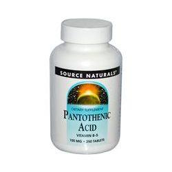 Source Naturals, Pantothenic Acid, 100 mg, 250 Tablets - iHerb.com