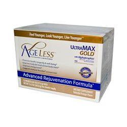 Ageless Foundation Laboratories, UltraMax Gold, Advanced Rejuvenation Formula, Valencia Orange Flavor, 22 Packets, 0.61 oz (17.4 g) Each - iHerb.com
