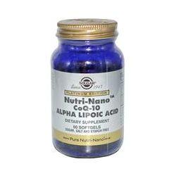 Solgar, Platinum Edition, Nutri-Nano CoQ-10 Alpha Lipoic Acid, 60 Softgels - iHerb.com