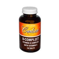Carlson Labs, B·Compleet, Vitamin B Complex with Vitamin C, 180 Tablets - iHerb.com