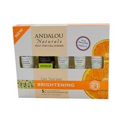 Andalou Naturals, Get Started Brightening, Skin Care Essentials, 5 Piece Kit - iHerb.com