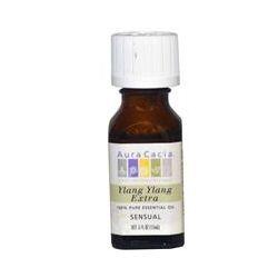 Aura Cacia, 100% Pure Essential Oil, Ylang Ylang Extra, .5 fl oz (15 ml) - iHerb.com