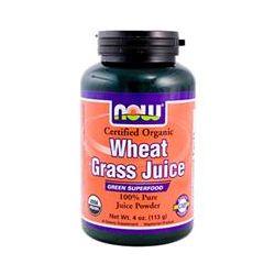 Now Foods, Organic, Wheat Grass Juice, 100 % Pure Juice Powder, 4 oz (113 g) - iHerb.com