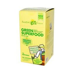Amazing Grass, Green SuperFood, Pineapple Lemongrass Flavored, 15 Individual Packets, 7 g Each - iHerb.com
