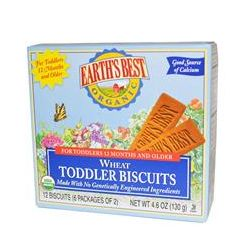 Earth's Best, Wheat Toddler Biscuits, 12 Biscuits, 4.6 oz (130 g) - iHerb.com