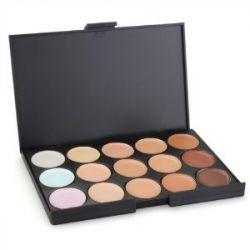 Concealer Abdeckcreme Camouflage Palette Cover Abdeck Makeup mit 15 Farben Mode