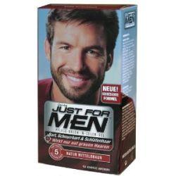 Just For Men Pflege-Brush-In-Color-Gel für Bart, Schnurrbart, Mittelbraun