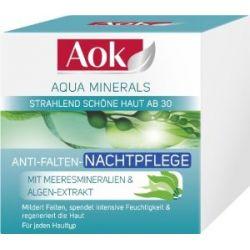 Aok Anti-Falten-Nachtpflege Aqua Minerals , 3er Pack (3 x 50 ml)