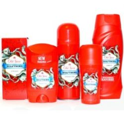 5er SET Old Spice WOLFTHORN AfterShave+Deospray+ Deostick+Deoroller+Showergel
