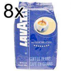 Lavazza Kaffee Espresso Gold Selection, ganze Bohnen, Bohnenkaffee, 8er Pack, 8 x 1000g