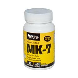 Jarrow Formulas, MK-7, Vitamin K2 as MK-7, 90 mcg, 60 Softgels
