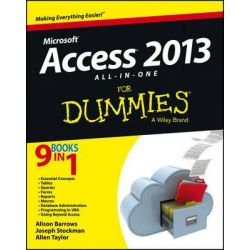 Access 2013 All-in-One For Dummies by Alison Barrows, 9781118510551.