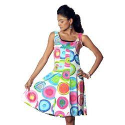 """Desigual ROUND """"Dress Kleid"""" mit buntem Druck, knielang, Größe M (DE-3)"""