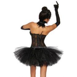 Tutu - Petticoat in schwarz Gr. XS-XL passend zu unserer Corsage Black Swan