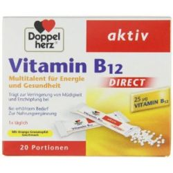 Doppelherz Vitamin B12 Direct, 20 Portionsbeutel, 2er Pack (2 x 20 g)