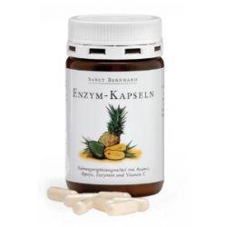 Sanct Bernhard Enzym-Kapseln mit Ananas-, Papaya-Fruchtpulver, Vitamin C 90 Kapseln