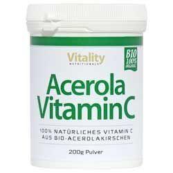 Bio Acerola Vitamin C Pulver, naturbelassen, 200g