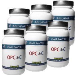 Amlawell OPC & C / 6 Dosen = 360 Kapseln a 700mg / Zertifiziert / reicht für 12 Monate!