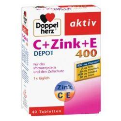 Doppelherz Vitamine C und E mit Zink Depot. 1er Pack I(40 Tabletten)