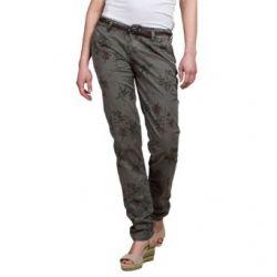 Timezone Damen Hose MillaTZ chino pants incl. Belt 16-0173 Skinny / Slim Fit (Röhre), All over Druck Normaler Bund
