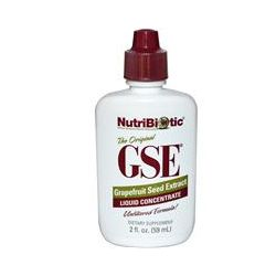 NutriBiotic, GSE Liquid Concentrate, Grapefruit Seed Extract, 2 fl oz (59 ml)