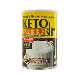 Nature's Plus, Keto Slim, High Protein Shake, Vanilla, 0.80 lb (363 g)