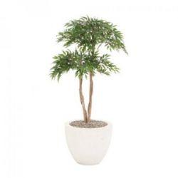 Sumatra-Ficus Kunst- Seidenpflanze 115 cm im Topf