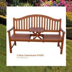 Bank Gartenbank Sitzbank Holz Holzbank mit Tisch Neu
